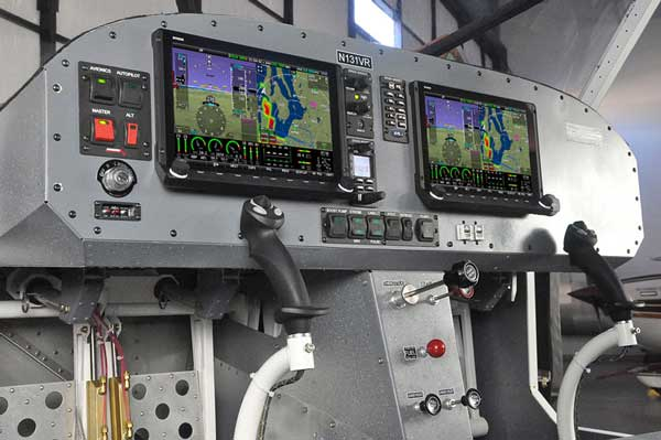 The Vashon Ranger R7 boasts a full Dynon equipped glass panel avionics suite
