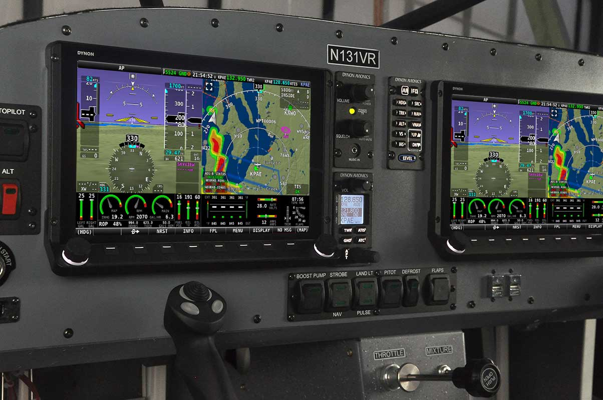 Even the base Ranger comes with a full Dynon glass panel avionics suite